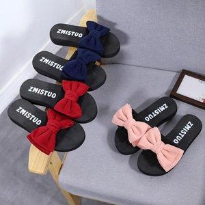 Muffin grossas sandálias de fundo e chinelos bowknot coreano 2020 Verão Novo Casacos Moda Wedge Heel flip flops pé feminino