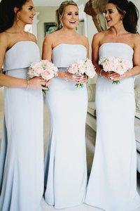 2019 Новый блестками платья невесты дешевые без бретелек простой формальный фрейлина платья халаты de demoiselle d'Honneur BM0338