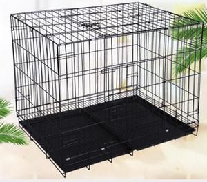 85 cm 2 puertas grande mediano pequeño perro portador de cables plegable sobregaliente sobrevalorando gato perro jaula tragaluz crate casero hogar hE149