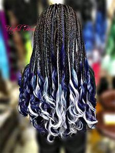 Bouncy long SEA Body Tressage Extensions cheveux 24inch Crochet Tresses Mer corps synthétique Extension de cheveux Style Ombre couleur pure pour les femmes