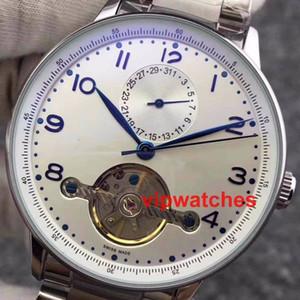 Orologi da uomo di lusso Self-wind Skeleton Flywheel meccanico automatico Datejsut vendite calde Designer Designer orologio da polso da polso