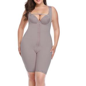 النساء التخسيس ارتداءها بات المنحنيات رافع المنشعب فتح نمذجة الشريط Bodyshaper Shaperwear زائد الحجم 6XL رمادي بيج داخلية