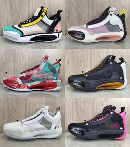 2020 Jumpman XXXIV 34 Eclipse Snow Leopard Blue Void Amber Rise Mens Basketball Shoes 34s Designer Sport Sneakers Shoes