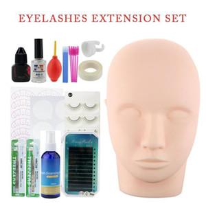 Professional Training False Eyelashes Extension Set Grafting eye Lashes Practice Curl Glue Tweezer Ring Tools Set Practice Kits