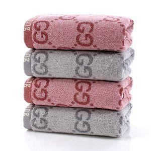 35 * 75 سم 2020 زوجين غسل منشفة وجه القطن حمراء لونين رمادي الأزياء بسيطة حمام منشفة لينة ومريحة المواد