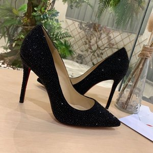 new designer single dress shoes for woman stiletto heel dress shoes with Diamond inlaid fashionable comfortable soft sole