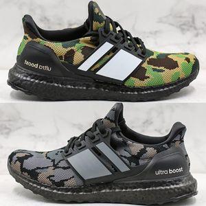 Adidas Ultra Boost sports shoes Yeni Moda Erkek Ultraboost UB Siyah Gri Yeşil PK Sneakers Boyutu 40-44 xshfbcl Yüksek Kalite Ape Ultra Boost Kamuflaj Paketi Ayakkabı