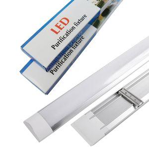 Yeni Yüzey LED Batten Çift sıralı Tüpler Işıklar 2 ft 3 ft 4 ft T8 Armatür Arıtma LED tri-geçirmez Işık Tüp AC 110-240V Monteli