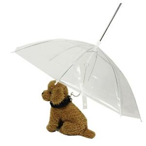 PE Pet Şemsiye Şeffaf Küçük Köpek Yavrusu Şemsiye Yağmur Dişli Köpek Talepleri ile Pet Seyahat Açık Havada Malzemeleri Tutar XD20456