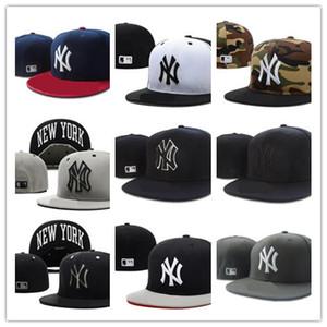 Дешевые нью-йорк письмо бейсболки Chapeu кости мужчины и женщины спортивные хип-хоп полностью закрыты встроенные шляпы