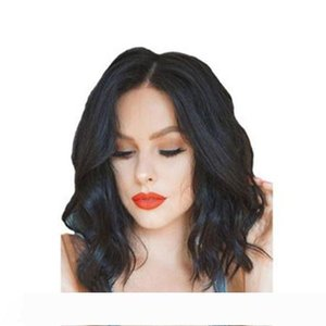 NEW hairstyle brazilian Hair short bob full wig African Americ Simulation Human Hair short bob curly full wig mid part for lady