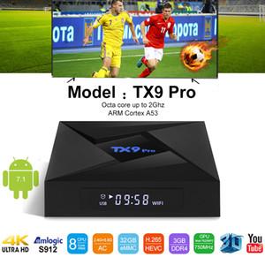 5adet TX9 Pro Android 7.1 3 GB 32GB Amlogic S912 Octa Çekirdek 2.4G 5.8G Çift Wifi BT4.1 Smart TV Box