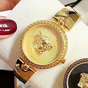 Marca Top Mulheres Waches Montre Femme Moda Ouro Sliver projeto quartzo relógio Mulheres de luxo completa pulseira de aço For Ladies Famale Relógio