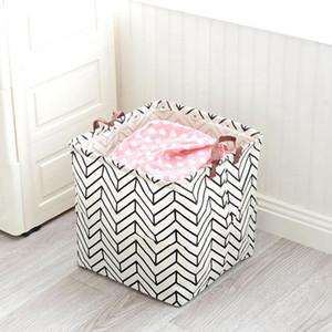 Hot Sale Foldable Laundry Basket Baby Toy Basket Fabricc Basket Dirty Clothes 33x33x33Cm Family Organizer Laundry Hampe