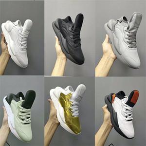 2020 Moda Erkek Y3 Kaiwa Sneaker Erkekler Kadınlar Y3 Chunky Platformu Basketbol Ayakkabı Gerçek Deri Kutusu EU36-45 ile Vintage Eğitmenler