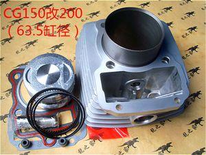200cc Hava soğutmalı 200 Motor Yedek Parçaları 63.5mm Motosiklet Silindir Takımı Pim İçin Zongshen CG200 CG