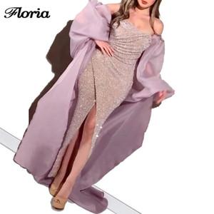 2020 정장 라일락 인어 저녁 드레스 새로운 도착 사용자 정의 반짝이 댄스 파티 드레스 사우디 아라비아 우아한 선발 대회 드레스 두바이