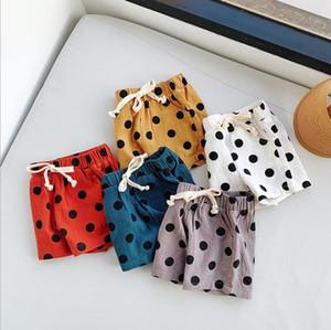Baby-Mädchen-Punkt-Kurzschluss IN Sommer Dreieckige Brothosen PP Hosen-Kind-Punkt-Baumwollleinen Bloomers Toddle Sommer Windel Briefs TLZYQ1493