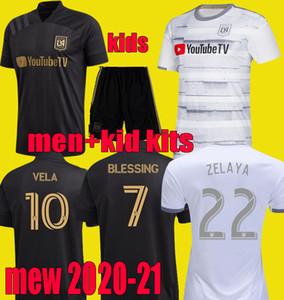 2020 2021 la Los Angeles fc LAFC VELA football Maillots enfants kits HOMA 20 21 ZIMMERMAN ROSSI hommes Blessing garçons FOOTBALL uniforme