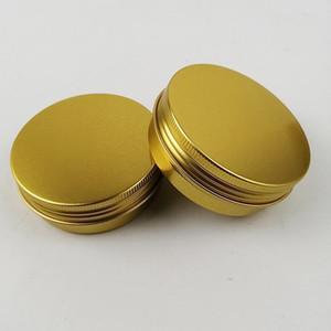 2 oz 60ml 60g lattine multicolore rotonda in alluminio Vite coperchio di metallo barattoli vasi vuoti slip slide Contenitori di TRASPORTO