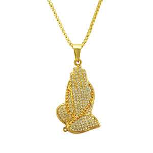 Hip-hop Style K Gold Mens Bergamot Diamond Set Pendant Necklace Inch Large Gold Chain