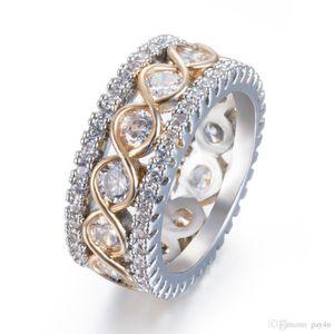 Поп Высокой Моды Pay4U Золотой Стиль Простой Немного Вставить Дрель Полный Круг Кольца Панк Ну Вечеринку Кольца Ювелирные Изделия Для Женщин
