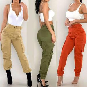 Pantalons Pantalon cargo en vrac solide Punk long Sport Randonnée Streetwear Pantalons Hip Hop Sexy Pantalons européens et américains des femmes