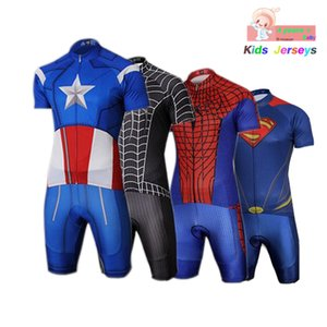 Niños Spider Man Jersey de ciclo desgaste del juego manga corta ciclismo Bicicleta Set Boys Ropa Ropa Ciclismo niña Ropa de deporte