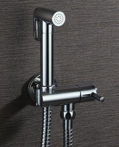 1.5M 호스 ducha의 higienica 황동 크롬 황동 기능 여성의 휴대용 비데 샤워 세트 믹서 휴대용 비데 스프레이 수도꼭지