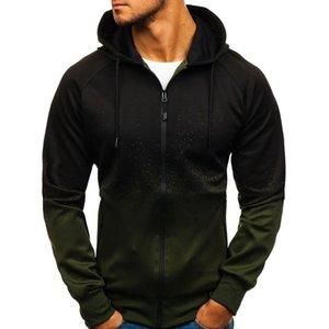 Spring Men's Sweatshirt Hoodies Men Zipper Design Hooded Outerwear Man Slim Hip Hop Hoodie Male 3D Print Sportswear Tracksuit