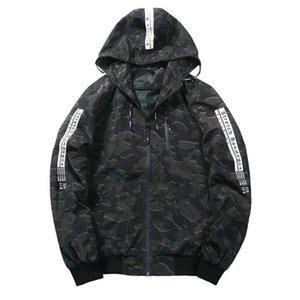 Осень Thin куртка Мужская куртка Мода ветровка куртка с Hat Мужская Тонкий Камуфляж Coat EUR РАЗМЕР M-3XL