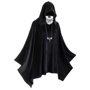 Mascherina di Halloween Theme Mantello Costume incappucciato solido di colore del mantello delle donne degli uomini del progettista Cosplay Clothes