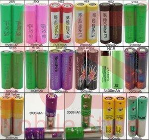 Top Quality 18650 Battery vape Batteries Rechargeable IMR 3500mAh Large Power HG2 30Q VTC6 3000mAh NCR 3400mah 25R lithium E Cig Mod VTC4
