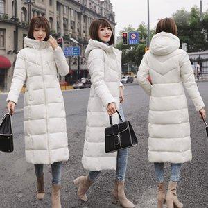 2019-2020 Frauen Winterjacke mit Kapuze 2018 plus Größe M-6XL mit Pelzkragen warmen dicken Daunenjacke Baumwolle weibliche Art und Weise gepolsterter Mantel der Frauen