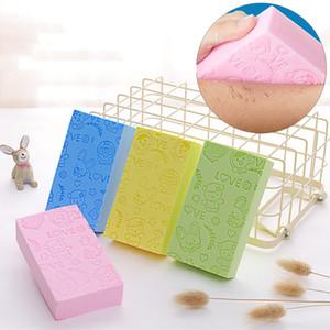 Corpo Chuveiro Esfoliante Esponja 13 * 7 * 3 cm Impresso Adulto Banho Esponja Banho Artefato Poderoso Remover Lama Descontaminação Banho BH0652-1 TQQ