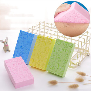 Body Shower Exfoliating Sponge 13*7*3cm Printed Adult Bathing Sponge Bath Artifact Powerful Remove Mud Decontamination Bath BH0652-1 TQQ