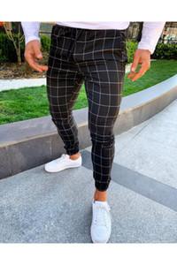 Erkek Pantolon Katı Renk İpli Erkek Kalem Pantolon Yeni Stil Erkekler Günlük Pantolon yazdır kareli