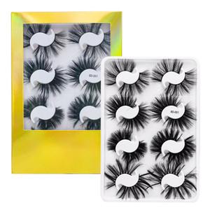UPS gratuit! En gros 8 paire cils en soie sythetic fibre affichage livre 8-25mm 100% à la main cheveux naturels cils de vison flase