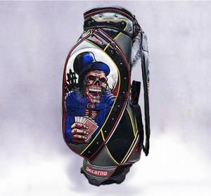 Новые свет мужчины сумка для гольфа череп головы предел продажи мяч для гольфа сумка бесплатная доставка стенд пу клубная сумка