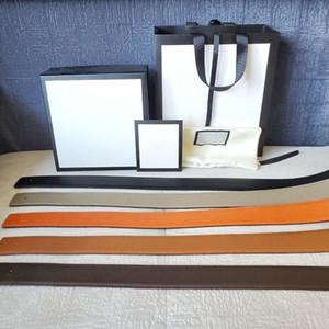 Reversible Schnalle Gürtel Mann Frau Gürtel beiläufige glatte Wölbung Gurtbreite 3.4cm 3.8cm Optional 5 Farbe hohem Grade Qualität mit Geschenk-Box