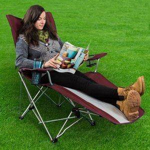 Sedia da campeggio pieghevole reclinabile con poggiapiedi Chaise longue da spiaggia all'aperto