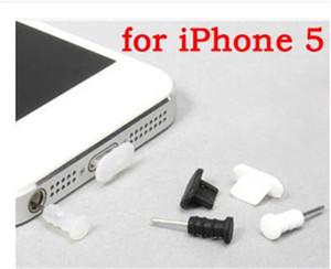 iPhone5 ücretsiz kargo FC02 için Cep Telefonu Anti-Dust 2PCS Metal Şarj Liman + 3.5mm kulaklık Liman Toz Tak Değiştirilmesi