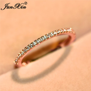Choucong أنثى الماس البنصر روز الذهب معبأ مجوهرات خمر خواتم الزفاف الاشتباك للنساء هدايا السنة الجديدة