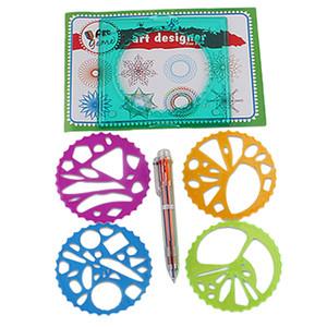 1 Juego geométrico Regla de la plantilla arte espiral clásico juguete para niños