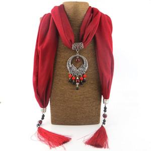 Kadınlar Için moda Etnik Kolye Renkli seramik Boncuk Bildirimi eşarp Kolyeler Bohemian Takı Kolye atkılar