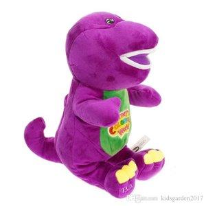 Nuova vendita calda Barney The Dinosaur 28 centimetri Canta Ti amo canzone viola della bambola della peluche Peluche