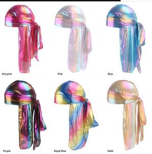 Unisexe Deluxe Silky Durag 2019 NOUVEAU Style Extra Longue Queue Headwraps Pirate Cap 360 Waves Du-RAG Durags Pour Hommes Et Femmes Hip Hop Chapeau