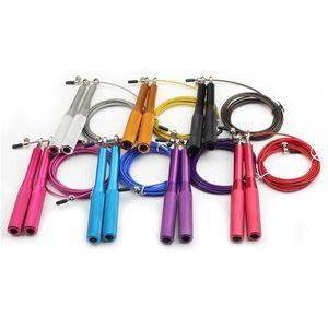 DHL Schiff Jump Rope Ultra Geschwindigkeit Springseil Stahldraht-Springen Seile für Boxing Gym Fitnesstraining 3 Meter Adjustable Speed-Gym