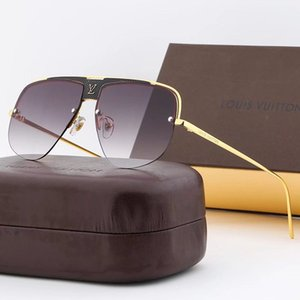 LLKGFJDGJ High Quality Brand Design Women Sunglasses Glasses Lady Sun glass Woman 2020 Gradient Pink Blue Lens Men Eyeglasses