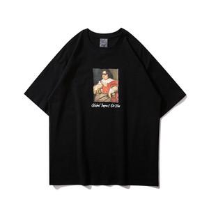 New Oversize High Street été T-shirt pour hommes et femmes O Neck Hip Hop lâche Harajuku T pur coton à manches courtes Homme T-shirts